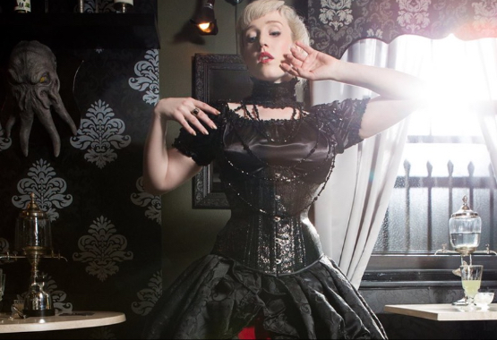 Gothic Victorian or Vampire Romance style wedding dresses are our specialty
