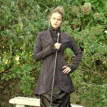 pinstripe jacket for colder weather weddings
