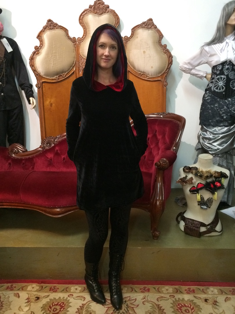 Shan in the Prophecy dress very velvety