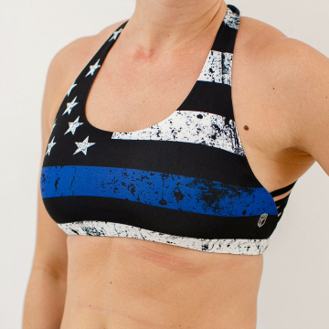 Born Primitive Thin Blue Line Vitality Sports Bra