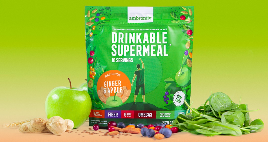 Ambronite Supermeal 1600kcal Ginger & Apple