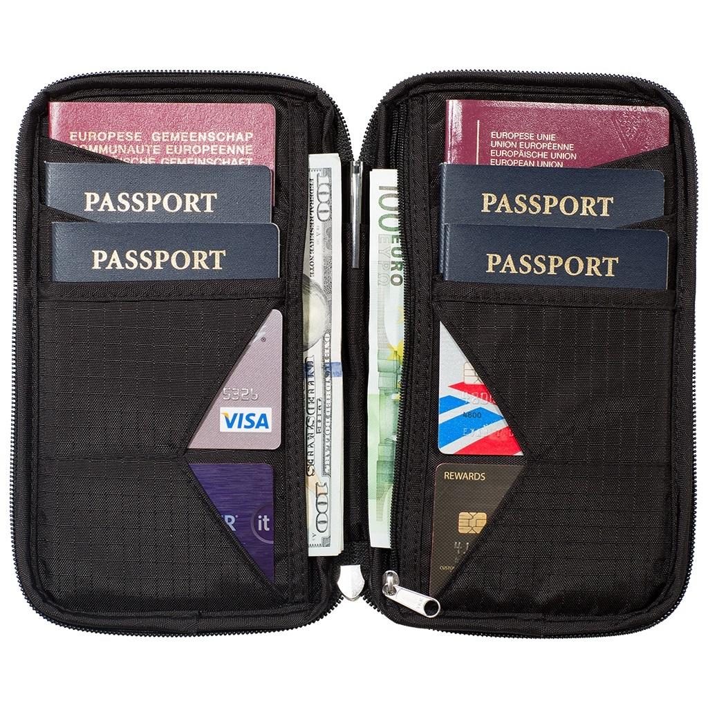RFID blocking family passport holder and multi passport wallet