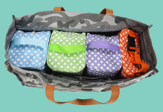Polka Dot Easy Baby Travelers Organizing a Diaper Bag (Diaper Bag not included)
