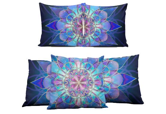 Blue Mandala Pillows