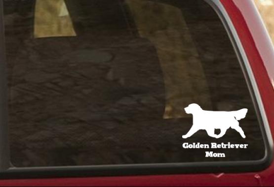 golden retriever decal on truck