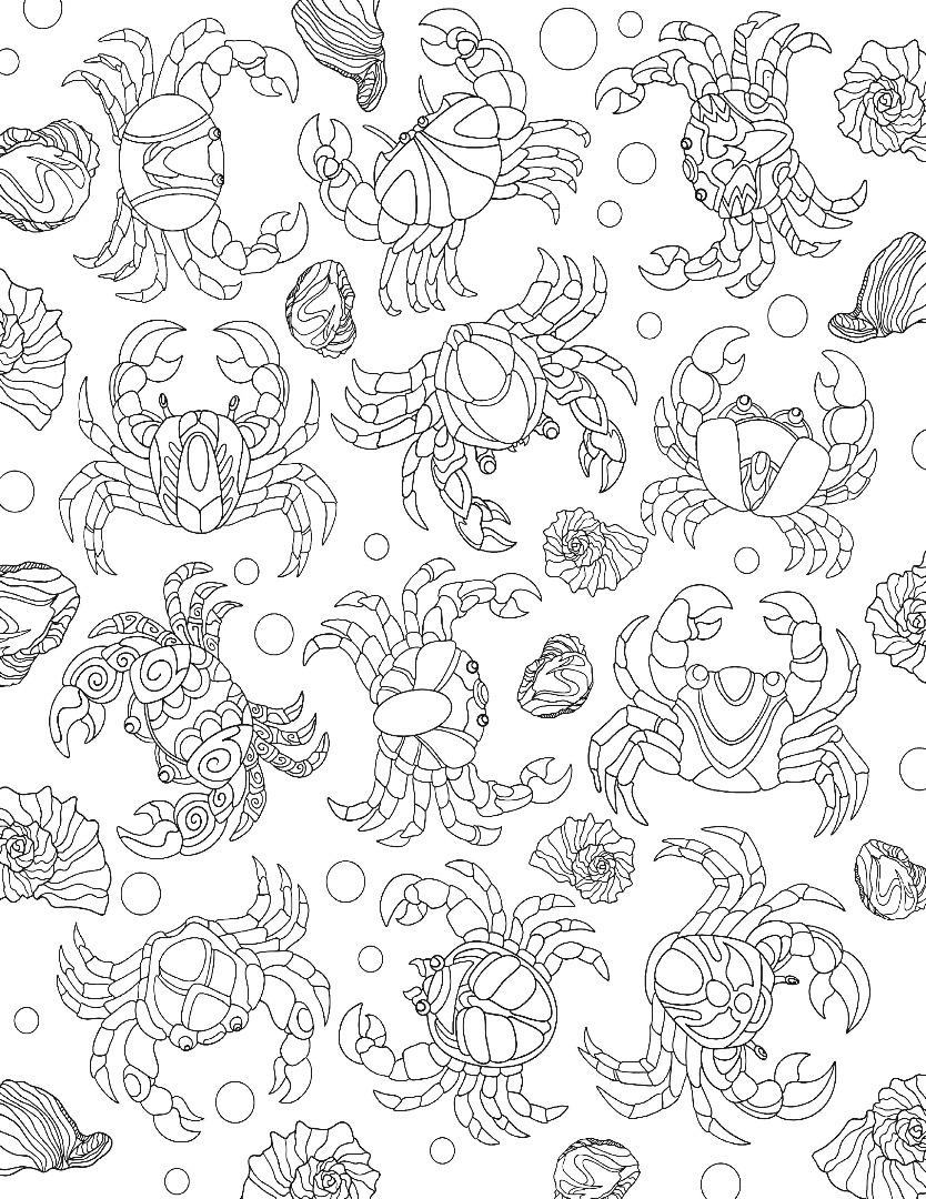 Crab Collage