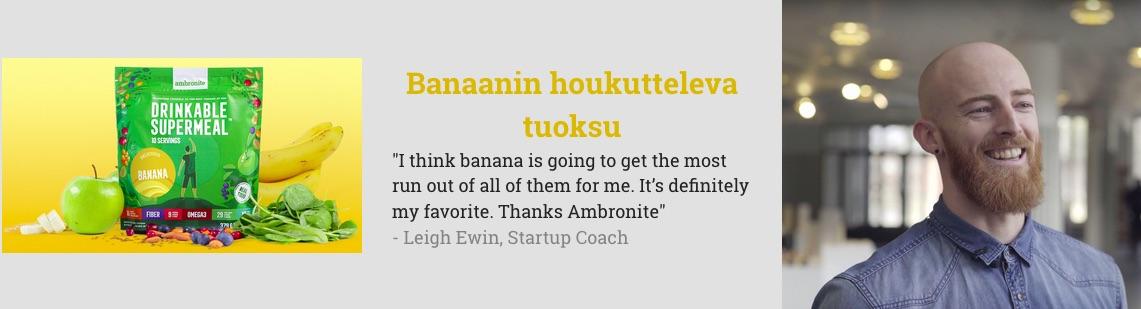 Ambronite Banana flavor testimonial