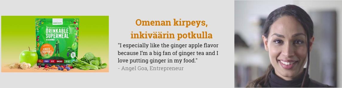 Ambronite Ginger & Apple flavor testimonial