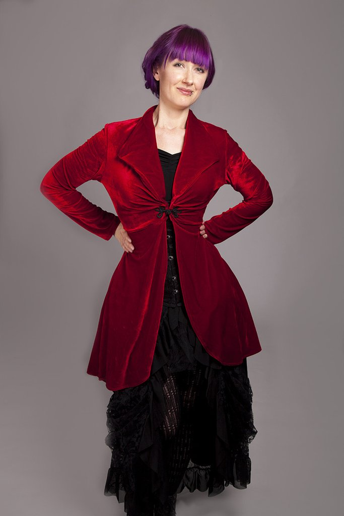 Long rose Bolero in Red