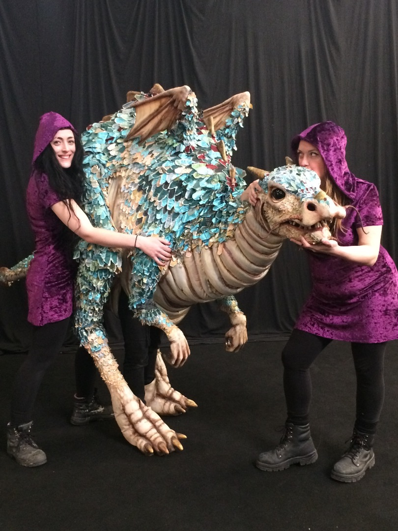 Meet Cassie, Celia & Dumpling, the Chinese Water Dragon..modelling for our new Velvet Battle Dresses!