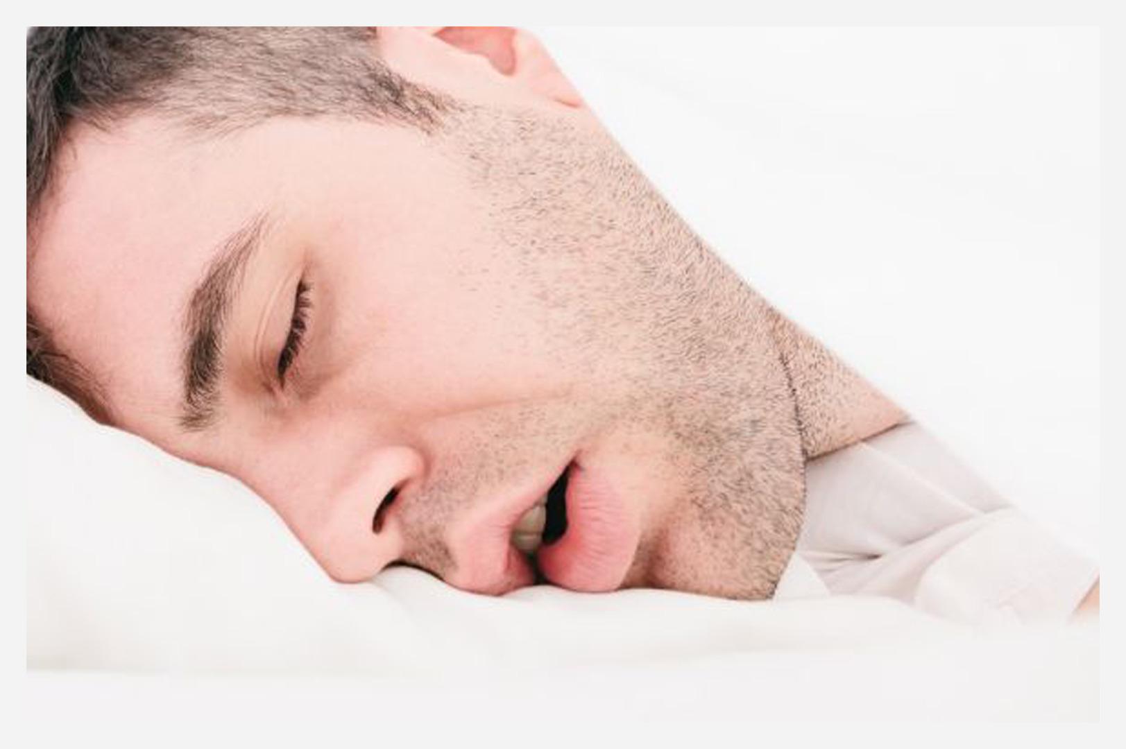 man snoring sleep apnea