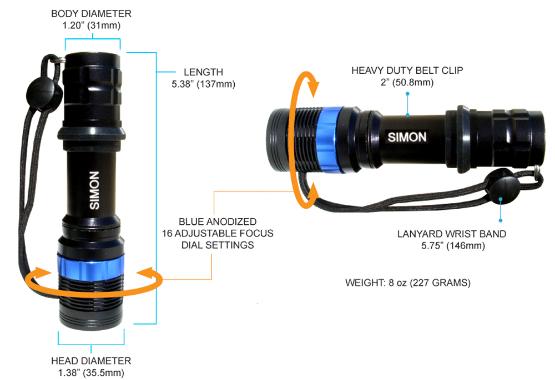 Simon XPE 200 lumens LED Flashlight
