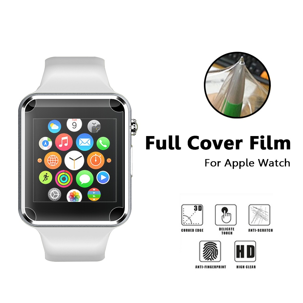 Third-Party Apple Watch TPU Screen Protector Film