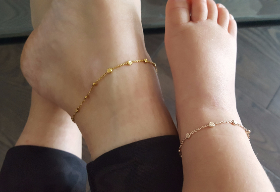 matching mommy and me anklet