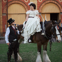 Melissa & David - steampunk wedding