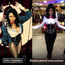 Supernova cosplay Zatanna character using our corsets and shirts