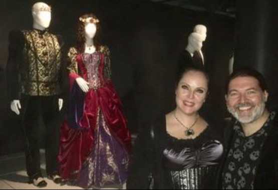 Sonya & Kevin's bridal outfits on display at the Powerhouse Museum