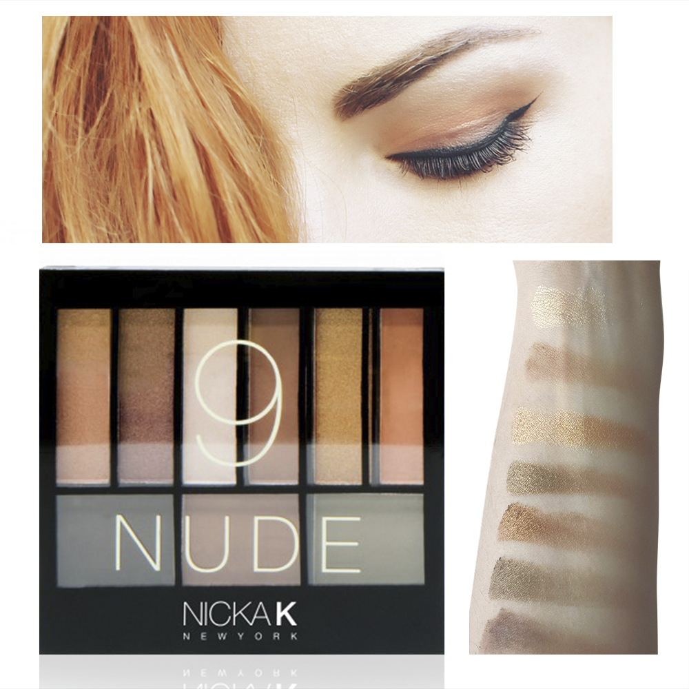 NICKA K Perfect 9 NUDE Eyeshadow Palette Set