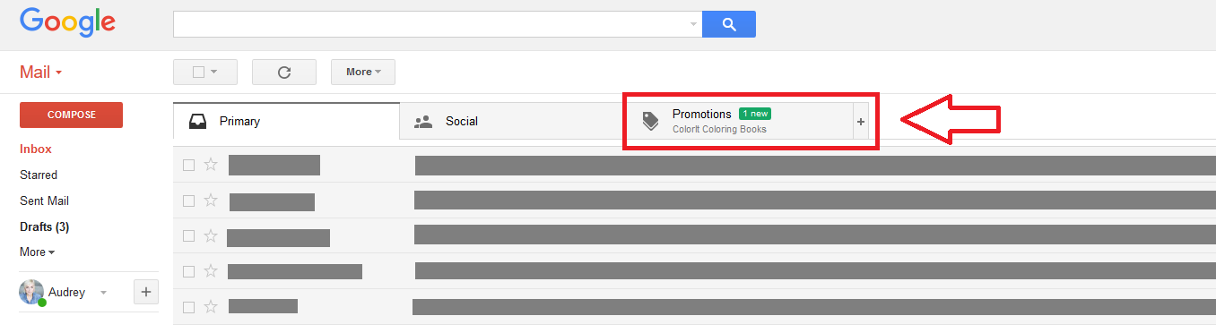 Promotions Tab