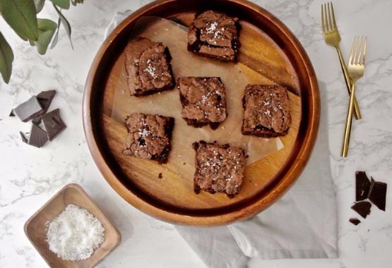 Fleur de Sel Salted Brownies