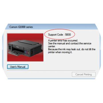 Canon Error Code 5B00