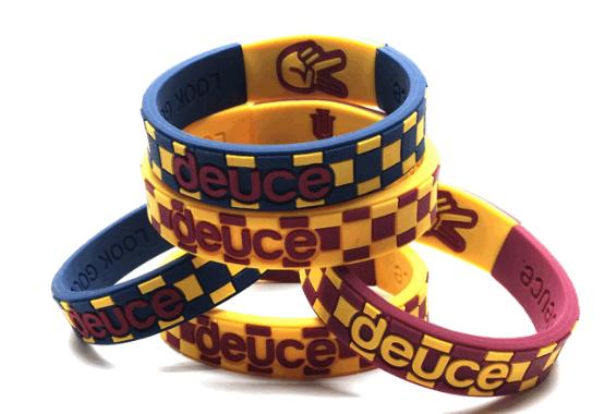 Deuce brand custom premium wristbands