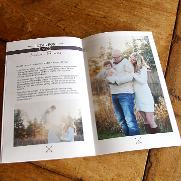 Ideas for Using Session Photos Text for Mini Session Welcome Guide