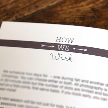 How We Work Text for Mini Session Welcome Guide