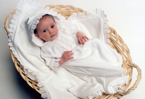 Victorian Organics Baby bunting gown
