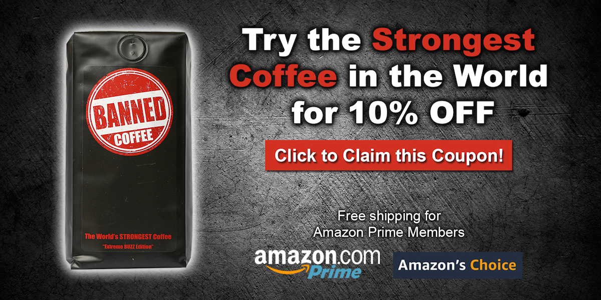Banned Coffee Amazon offer