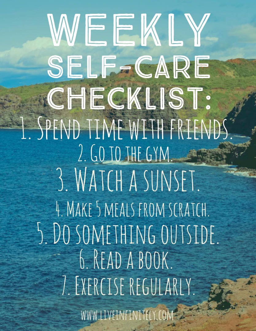 Weekly Self Care Checklist