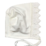 Organic Cotton and Lace Baby Bonnet