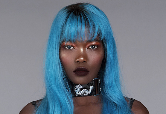 blue full lace wig