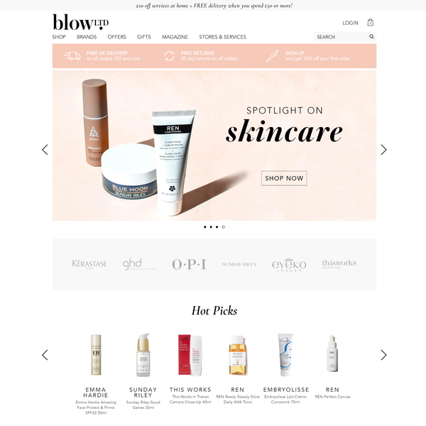 Blow Ltd - Setup, Development and Design Implementation