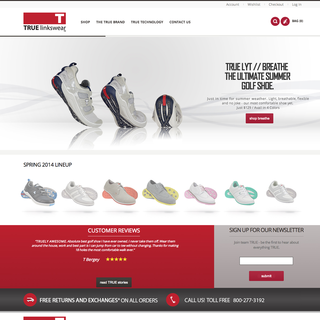 Men's sporting goods ecommerce website design.