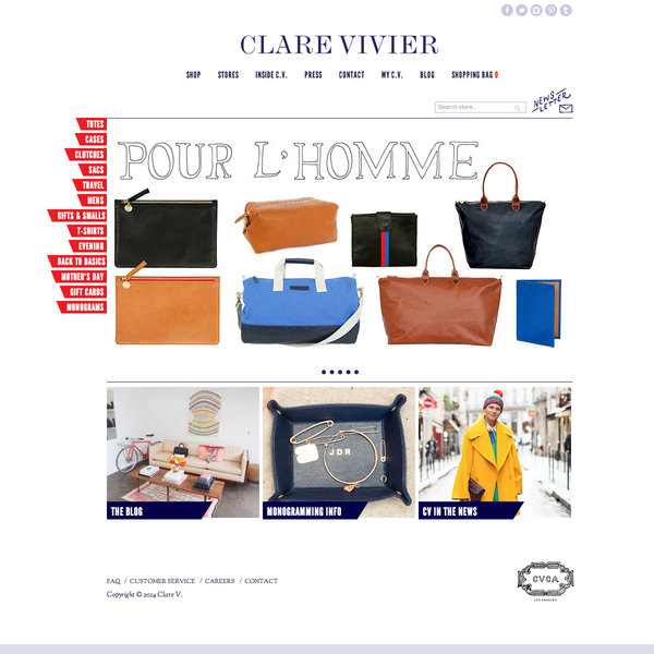 Women's handbags and accessories ecommerce site design