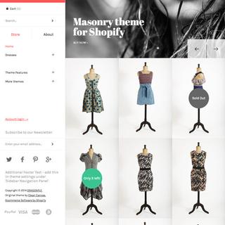 Masonry responsive Shopify theme