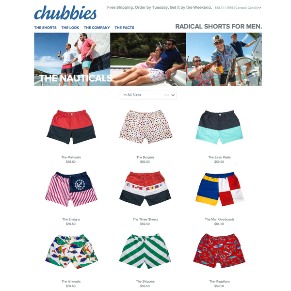 Below is the count of all of these Chubbies locations broken down by state. Chubbies is ranked # out of Men's Clothing stores in the U.S., based on the number of locations. Stores like Chubbies include: Paul And Shark, Brixton, Tilt, CCS and DTLR.