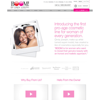 Skin Care Brand Home Page