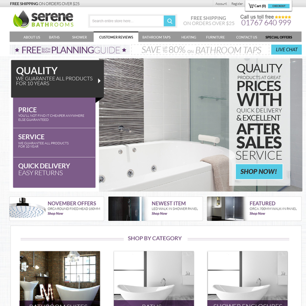 eCommerce Home Page Banner Rotator