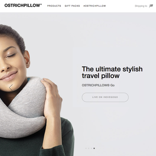 OSTRICHPILLOW® - Kickstarter backed fun travel pillow