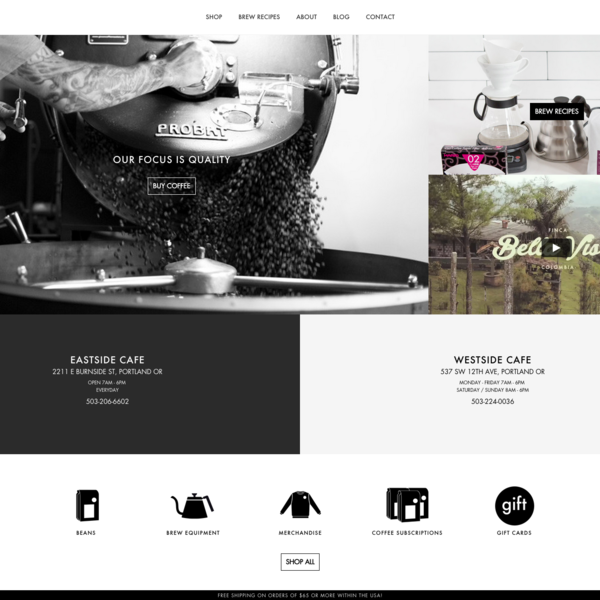 Custom theme design and development for Heart Roasters