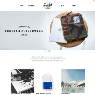 Herschel Supply Co custom theme design & development
