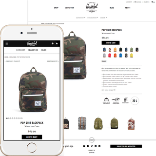 Herschel Supply Product page