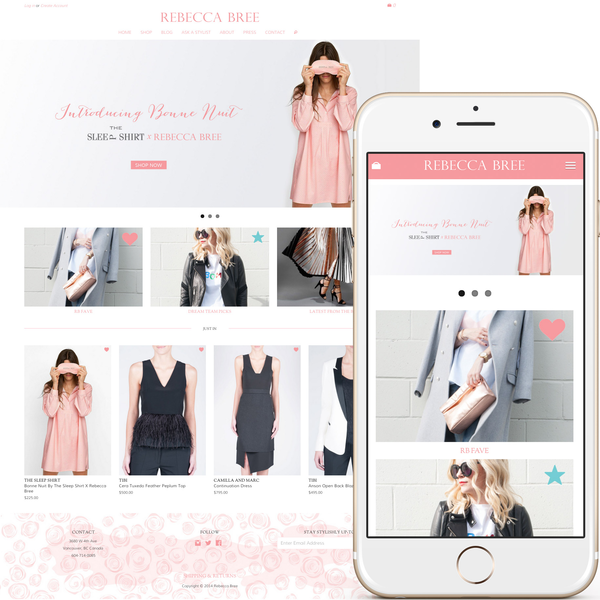 Custom theme design & development for a high-end boutique