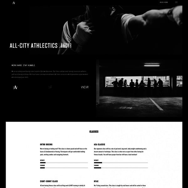 All-City Athletics (WordPress website with Buy Button)