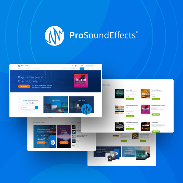 Pro Sound Effects - Digital downloads & sound effects galore!