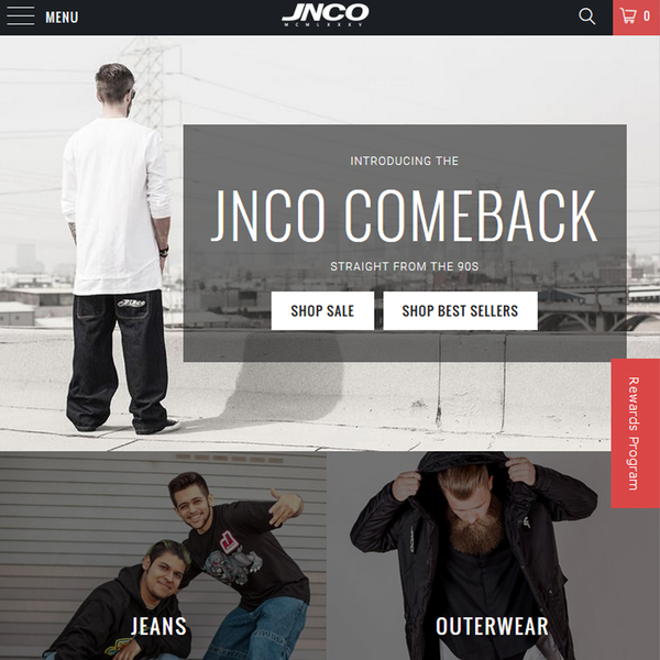 JNCO Jeans - Web Design, SEO, Paid Ads, Influencer Marketing, Social Media Strategy