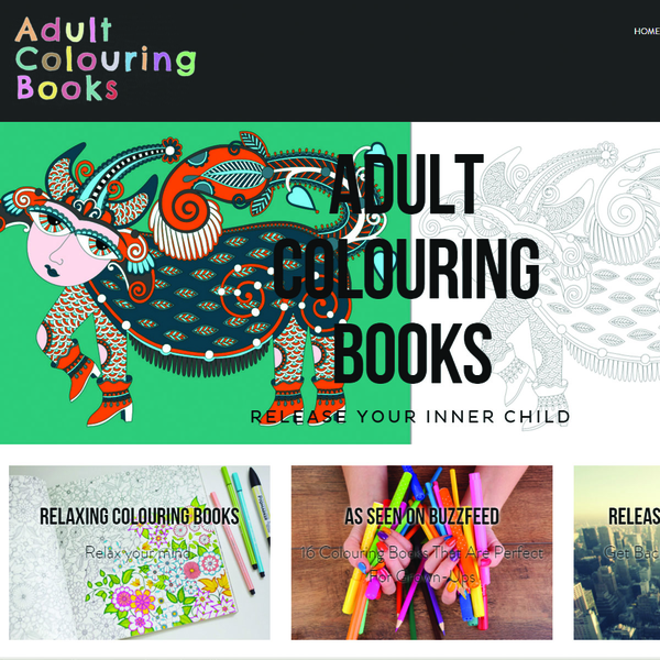 Adult Colouring Books - Web Design, Social Media Management, SEO