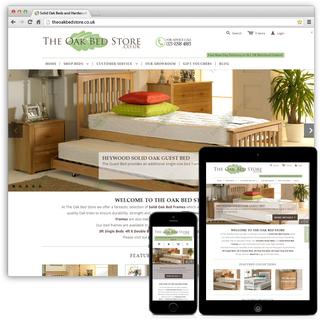 TheOakBedStore.co.uk - eCommerce Consultation, Full Shopify Setup, Theme Customisation, Multichannel